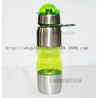 厂家直销塑料运动水杯8802B不锈钢防尘帽PC材质750毫升塑料杯