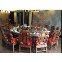 中山市酒店刺猬紫檀红木大餐桌大圆桌厂家批发 名琢世家