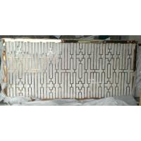 供应201钛金拉丝不锈钢花格厂家 香槟金无指纹不锈钢屏风 拉丝红古铜不锈钢隔断批发
