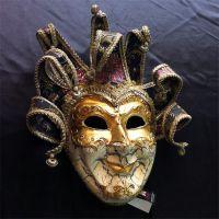 深圳晖泰威尼斯面具厂家批发纸浆全脸面具万圣节道具