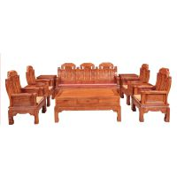 供应甘肃定西帝豪红木家具店 仙游十大红木家具品牌 组合 小款福禄寿沙发