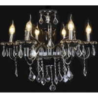 CVMA厂家直销 6013C-6A欧式高雅水晶吊灯法式奢华蜡烛白炽灯