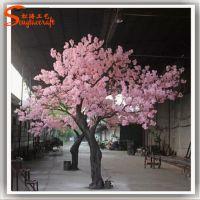 广州松涛仿真樱花树 人造花树 假树 厂家直销 玻璃钢材质仿真植物