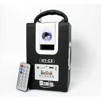 新款木质HY-C5手提式便携式老人户外晨练迷你音箱音响 带FM 遥控