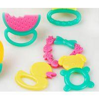宝宝磨牙玩具硅胶牙胶 婴儿咀嚼磨牙 食品级婴儿牙胶