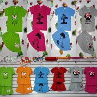 跑江湖热卖夏季童装套装2016新款儿童女童短袖短裙中小童装裙套装