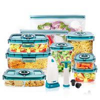 凯立信AIRSEE抽真空保鲜盒塑料抽气密封盒水果便当盒饭盒冰箱收纳真空盒