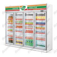 HG22L4FB 东莞便利店商业设备,全国连锁店饮料保鲜柜 四门保鲜柜