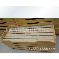 幼儿园家用木质实木床双人单人床带护栏男女生通用床可定做