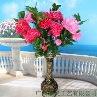 欧式花篮 铁艺藤编大花瓶 玄关落地摆件 家居饰品新款葫芦大花瓶