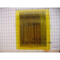广州超发防蚊虫条纹胶帘 黄色PVC胶帘 透明塑料皮门帘 PVC挂帘