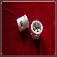 置顺陶瓷供应17-23%氧化铝鲍尔环陶瓷填料 陶瓷传质设备氧化铝鲍尔环
