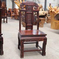 大信杉江。红木家具。巴花大板。餐椅