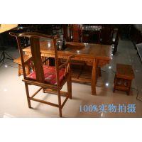 供应宁发仿古实木家具 功夫实木茶桌椅组合 中式榆木茶台泡茶几茶盘茶海