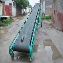 土豆装卸车输送机参数和报价 水平橡胶皮带式输送机 1.2米宽圆管V型托辊传送机