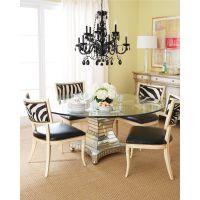 美式新款玻璃面餐桌 复古做旧餐桌椅新款 工厂直销可定制