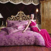 新款高档家纺提花纯棉婚庆韩版被套床单全棉四件套厂家批发代发