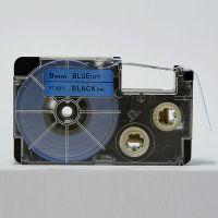 普贴国产标签纸PT-9BU 卡西欧标签机KL-8800/8700色带 9mm蓝底黑字