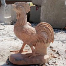 供应十二年生肖雕刻晚霞红石雕鸡石雕狗石雕猪各种造型属相雕刻定做