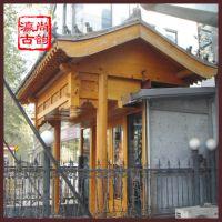 北京厂家供应古建仿古门楼 中式仿古实木门楼 四合院垂花门楼