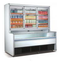雅绅宝供应敞开式牛奶展示柜 子母柜 超市陈列柜 啤酒冷藏柜