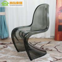 塑料餐椅魔鬼椅子休闲创意时尚椅 透明亚克力美人椅