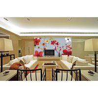 大型无缝壁画厂家供应时尚欧式花型 客厅电视背景专用 无缝宣绒布 英仑壁画