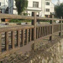 四川驰升河堤仿木栏杆 混凝土栏杆