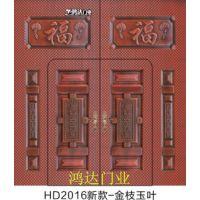 鸿达门业2016新款镀锌门、方格门、大铁门、金属门、庭院门
