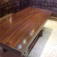 汇木源 大板桌原木餐桌巴花鸡翅木红木奥坎黄花梨实木大板茶桌老板桌现货