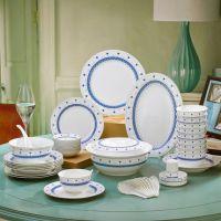 陶瓷餐具定制 款56头陶瓷餐具加字 合元堂