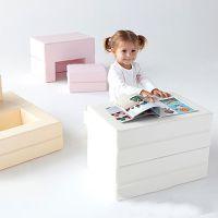 推特早教婴儿卡通可爱小沙发多功能折叠书桌椅
