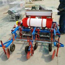 性能全超强效率全自动花生播种机 花生专用施肥播种覆膜机 信达机械直销