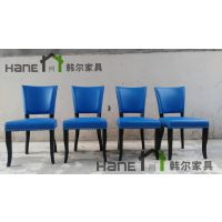 陆家嘴炉边情谈餐厅桌子椅子定做 简约实木餐桌椅定制 上海韩尔家具厂供应