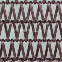 河北厂家定做各种规格勾花装饰网帘 幕墙装饰网帘