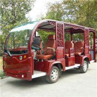 厂家直销11座电动观光车,生态园代步游览车,园区接送参观车