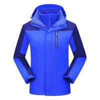 厂家供应两件套可拆卸珊瑚绒内胆冲锋衣超保暖外层防风防水 品牌可定制