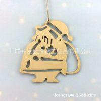 木质雪人挂件/圣诞节雕刻镂空礼品/木雕工艺品