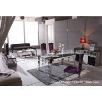 时尚餐厅不锈钢餐桌简易多功能不锈钢餐桌椅不锈钢快餐桌厂家直销