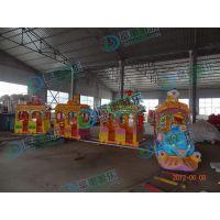 带轨道的小火车郑州哪里买 孩子坐的小火车玩具多少钱 玻璃钢轨道火车