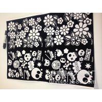 白板纸植绒印花59*44规格 0.61元每张加工费黑色粘胶静电植绒印花