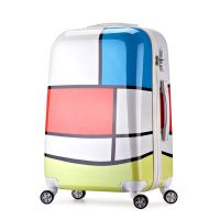 批发品牌新款PC拉杆拖箱万向轮24寸防滑抗压旅行密码行李箱包