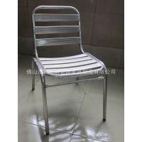 不锈钢椅无扶手可堆叠椅子全金属休闲家具椅露天餐厅高档不锈钢椅