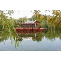 仿古画舫木船 12米传统画舫木船 特色中国风旅游船 户外观光游船