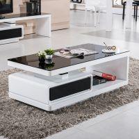 现代客厅家具创意简约时尚经典钢化玻璃大理石茶几B51#