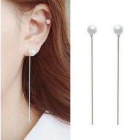 韩国甜美淑女珍珠耳环 线性流苏珍珠耳坠 速卖通货源 ALQE2015357