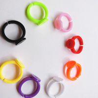 新款韩版手工DIY饰品配件 戒指托 儿童塑料指环  厂家直销