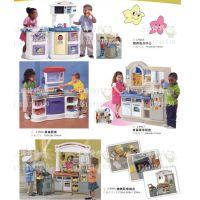 儿童玩具屋厨房洗衣中心 美食厨房 双面豪华厨房 烧烤厨房组合