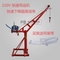 家用室内外吊运机小吊机装修建筑离合快速下降220V300kg公斤吊机