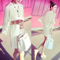 2015夏装新款连衣裙小银子显瘦气质雪纺拼接连衣裙连衣裙B